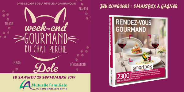 Invitation: Week-end Gourmand du Chat Perché de Dole le SAMEDI 28 SEPTEMBRE