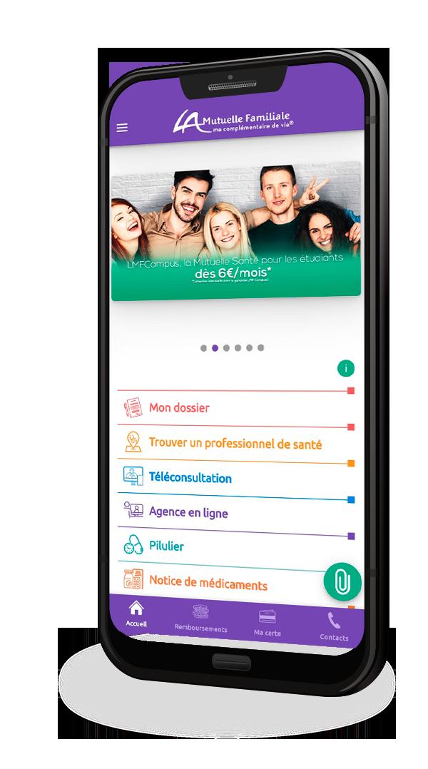 Application mobile la mutuelle familiale